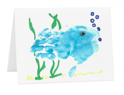 Blue Fish Greet Card