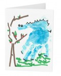 Blue Dinosaur Greeting Card