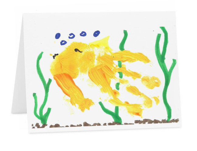Hand made greeting cards set of 6 effi orange fish greeting card m4hsunfo