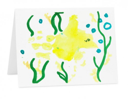 Yellow Fish Greeting Card